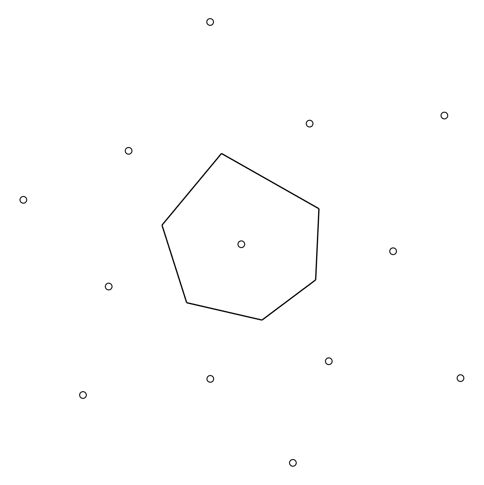 Step 7: Calculate the area of the resulting polygon.