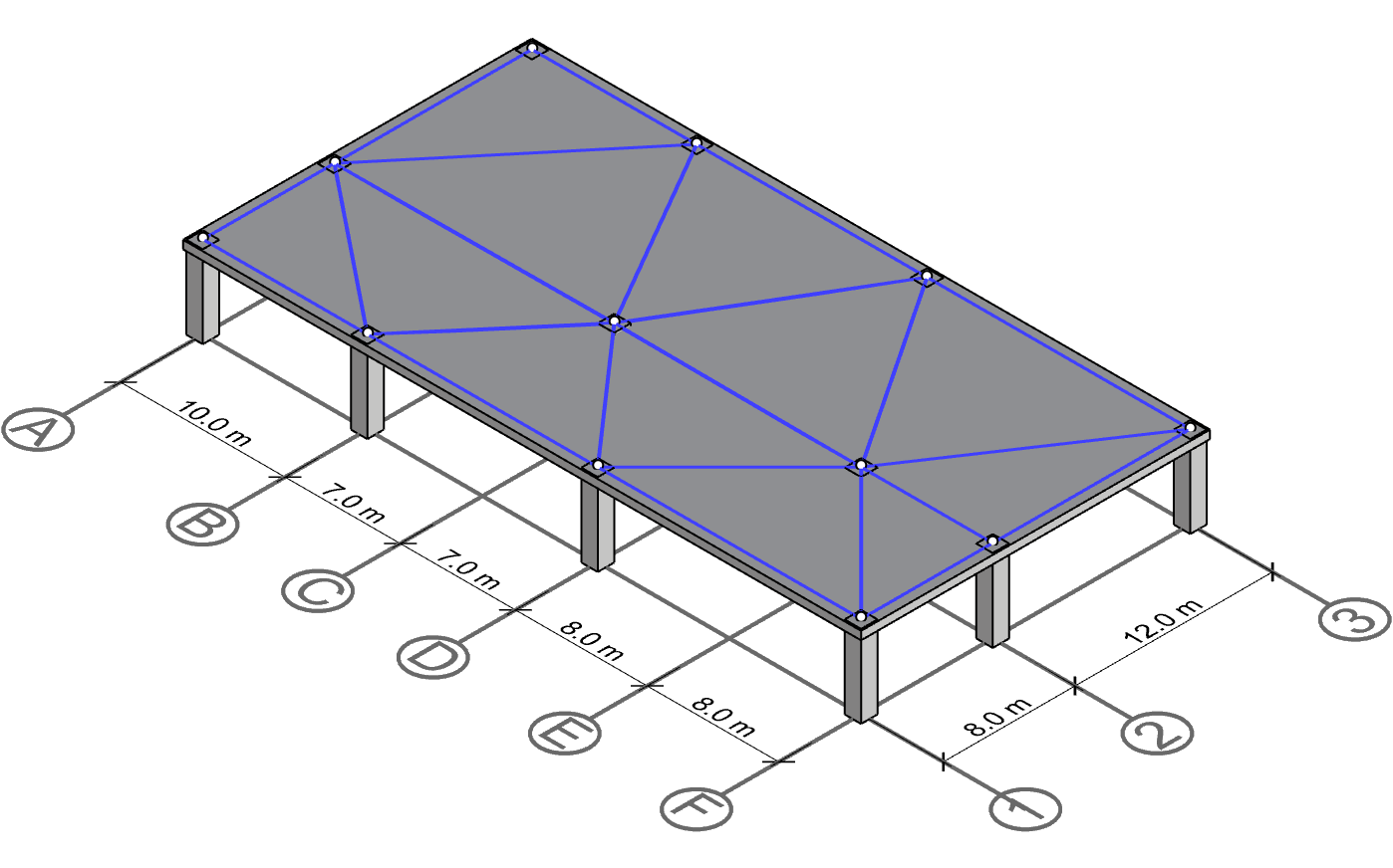 Connectivity lines between the columns