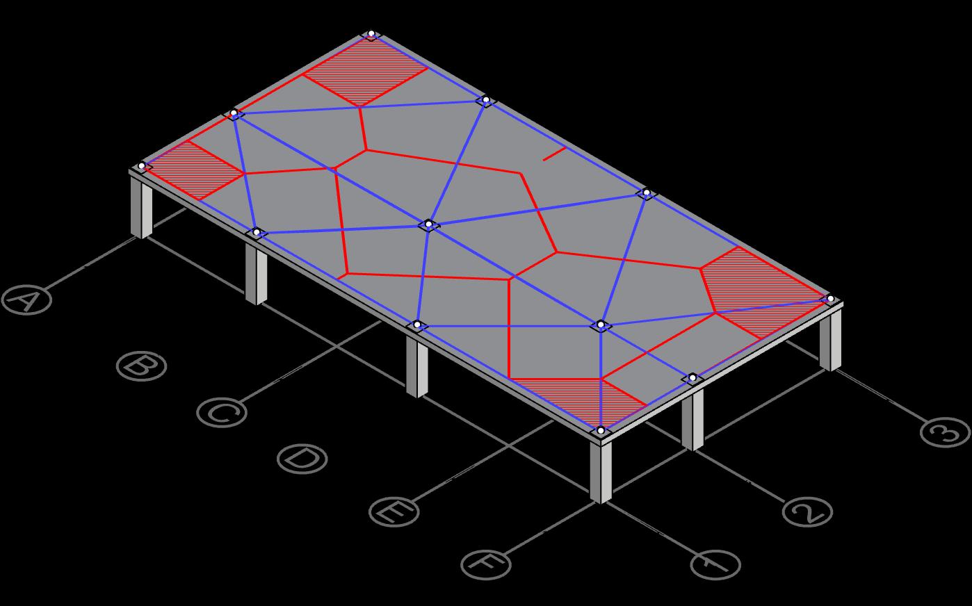 Derive centerline polygon for column A-1, A-3, F-1 and F-3